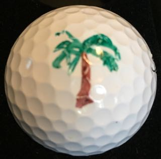 Palm Tree - Golf Ball Stencil